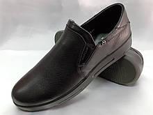 Комфортные кожаные осенние туфли на танкетке Bertoni