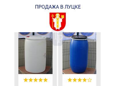 0244-02/1: С доставкой в Луцк ✦ Бочка (220 л.) б/у пластиковая