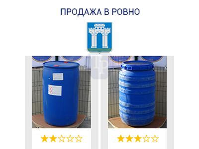 0237-03/1: С доставкой в Ровно ✦ Бочка (220 л.) б/у пластиковая