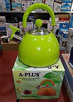 Чайник зі свистком A-PLUS WK-1340 2 л. (нержавіюча сталь)