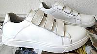 Женские туфли mante с липучками Ботинки кожаные батальная серия женская обувь большого размера