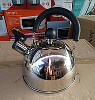Чайник зі свистком A-PLUS 1.5 л. (нержавіюча сталь)