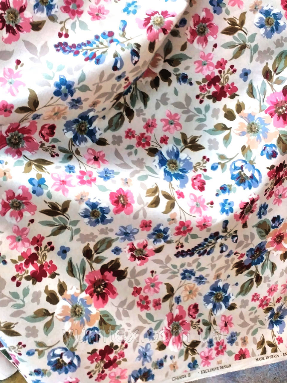 Ткань в стиле прованс, рисунок мелкие цветы, цвет № 2