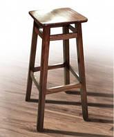 Табурет высокий барный деревянный с квадратным сидением