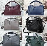 Женская сумочка цвет синий, фото 7