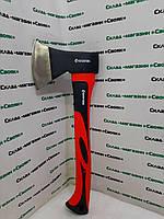 Топор (для дров) с усиленной рукояткой 600 грамм. Прорезиненная ручка из фибергласса.