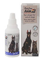 Капли AnimAll ушные для котов и собак 10мл