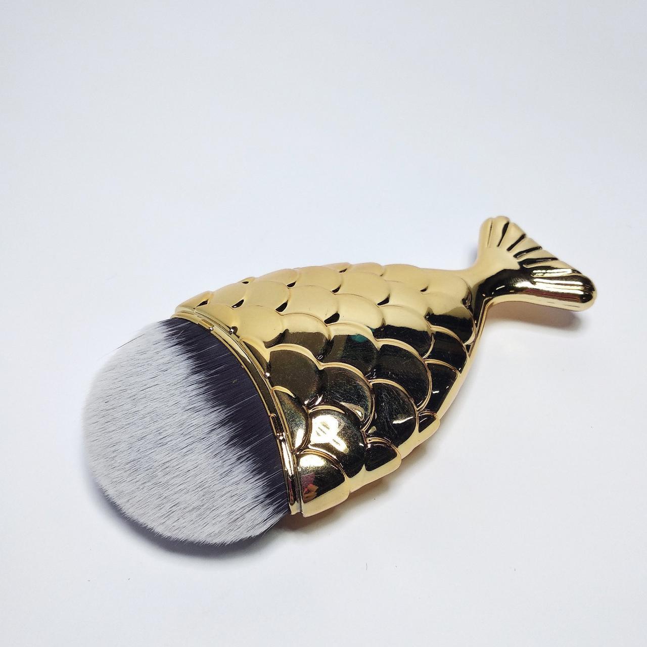 """Щетка сметка для удаления пыли, """"Рыбка"""", золотая"""