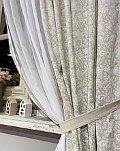 """Комплект штор """"white Rose"""" с кружевом, 170х140см"""