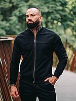 Замшевый бомбер Асос LUX Куртка мужская ветровка повседневная Черный (Размер S)