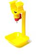 Поїлка з краплевловлювачем під круглу трубу діаметром 25 мм для птахів(курей, курчат, перепелів, качок, гусей), фото 2