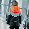 """Куртка-жилет для мальчика демисезонная """"Стей"""" светоотражающие вставки черный с оранжевым 122, фото 3"""