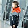 """Куртка-жилет для мальчика демисезонная """"Стей"""" светоотражающие вставки черный с оранжевым 122, фото 4"""