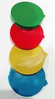 Крышка на банку хозяйственную (стекляную), полиэтиленовая, прямая, разных цветов, Ø85, H10