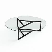 "Скляний кавовий столик ""Глобус"""