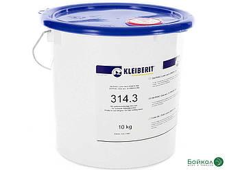 Однокомпонентний водостійкий клей KLEIBERIT 314.3 — ПВА-дисперсія D4 для зовнішніх виробів (відро 10 кг)