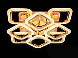 Светодиодная люстра с диммером и LED подсветкой, золото,110W, фото 2