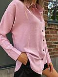 Рубашка женская с длинным рукавом Цвета: чёрный, пудра, мокко, белый. Размеры 42-44, 46-48, 50-52, фото 7