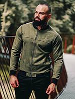 Замшевый бомбер Асос LUX Куртка мужская ветровка повседневная Зеленый (Размер S)