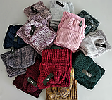 М 5082 Комплект женский шапка+баф, марс, флис, фото 3