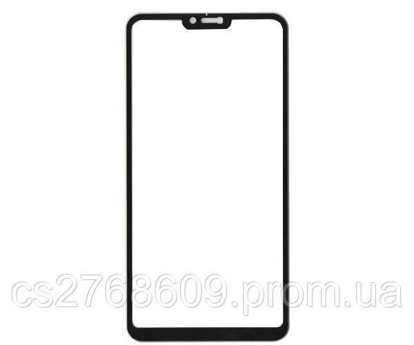 Защитное стекло захисне скло Xiaomi Redmi Note 6, Mi8 lite чорний 11D (тех.пак)