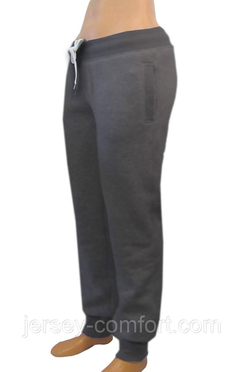 Теплые женские брюки. Брюки  женские утепленные трикотаж-начес