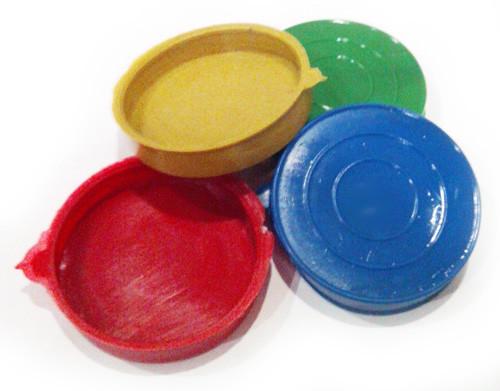 Крышка на майонезную банку, полиэтиленовая, разных цветов, Ø60, H10