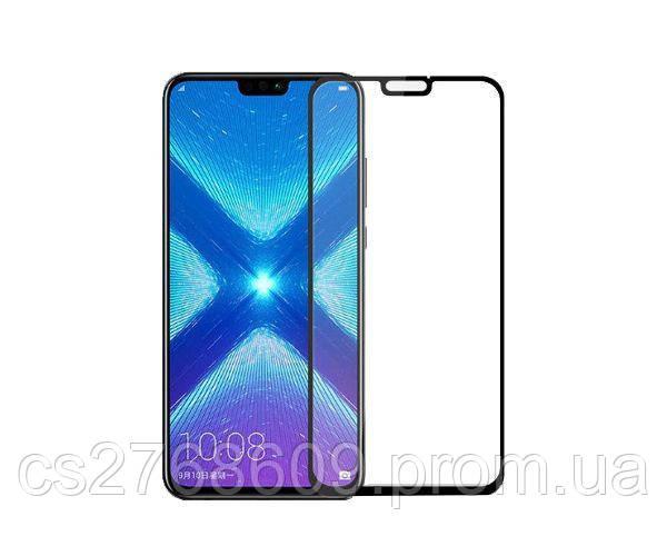 Защитное стекло захисне скло Huawei Y9 2019, Honor 8x чорний 5D (тех.пак)