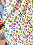 Ткань хлопковая мелкие цветочки, фон молочный, фото 3