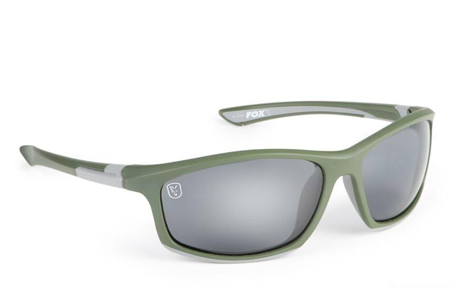 Очки Fox Collection Green & Silver Frame Grey Lens