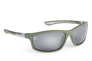 Окуляри Fox Collection Green & Silver Frame Grey Lens