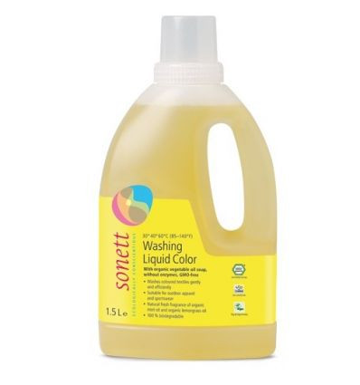 Sonett органическое жидкое средство  для стирки цветных тканей. 1,5л. Концентрат.