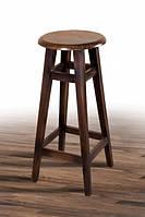 Табурет высокий барный деревянный с круглым сидением