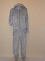 Спортивный костюм велюровый серый