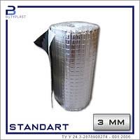 Віброізоляція 3 мм, Стандарт | Рулон 7.5 м | Фольга 50 мкм | Standart
