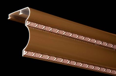 Карниз алюминиевый БР - 14 Беж, Шоколад  (2.5 метра)