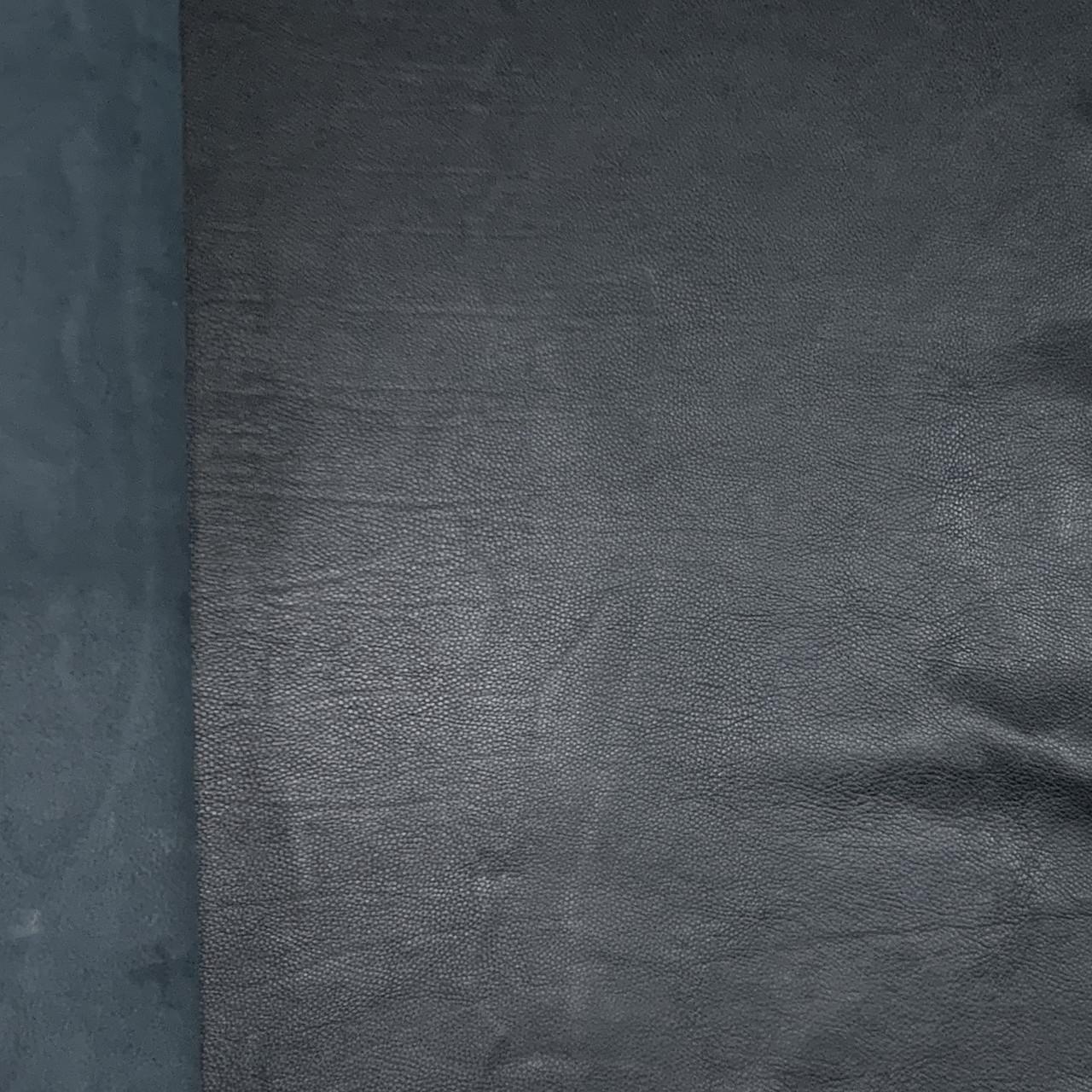 Кожа растительного дубления 1.4mm Black PAS307 138 dm2  Italy