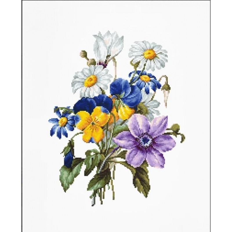 Набор для вышивания нитками Luca-S Цветы Букет цветов