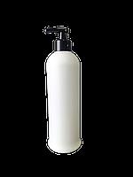 Флакон с дозатором (черный) 500 мл / бутылка с помповым дозатором белая пластиковая