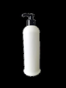 Флакон з дозатором (чорний) 500 мл / пляшка з помповою дозатором біла пластикова