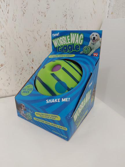 Игрушка для собак диск с пищащим звуком Wobble WAG giggle