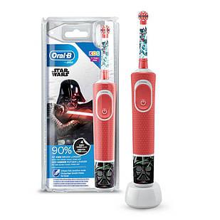 Електрична зубна щітка дитяча + паста Junior 6-12 роківBraun Oral-B Stages Power D100 Зоряні Війни