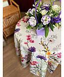 Хлопковая скатерть на стол Digitale Полевые цветы, фото 4