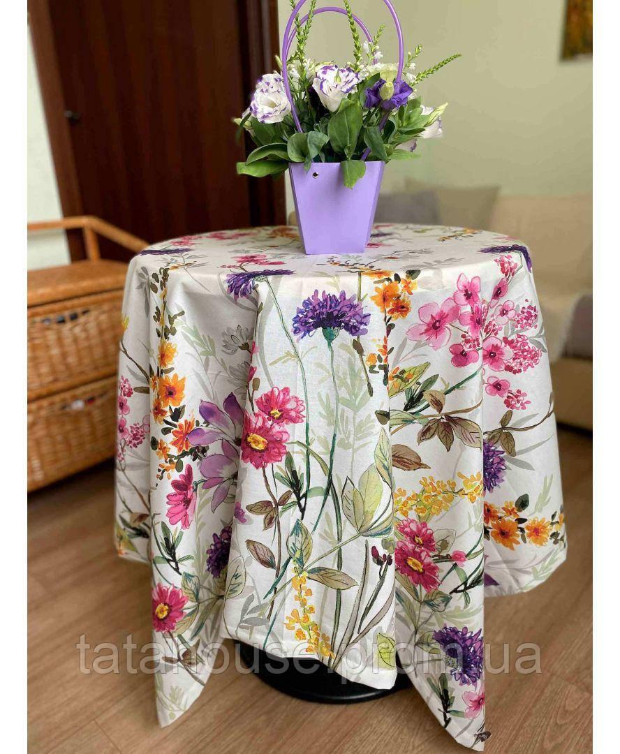 Хлопковая скатерть на стол Digitale Полевые цветы