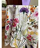 Хлопковая скатерть на стол Digitale Полевые цветы, фото 3