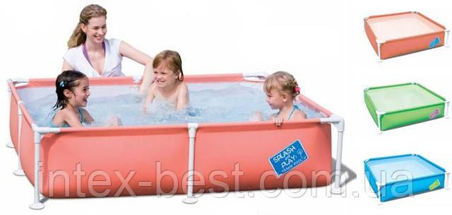 Bestway 56218 - прямоугольный каркасный бассейн Splash and Play 163x163x36 см