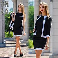 Костюм женский: платье + пиджак М-788/2 Дени