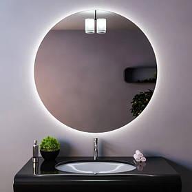 Круглые зеркала с подсветкой.