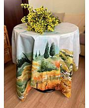 Хлопковая скатерть на стол Digitale Деревья