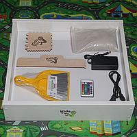 Световой планшет песочница Kids Toy 57,5*46,5 см. для рисования песком с цветной подсветкой.